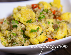 Cauliflower quinoa curry salad