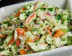 Crab Salad Calories & Nutrition Values