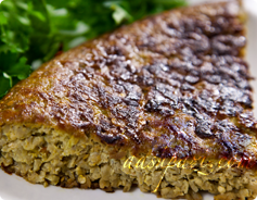 Eggplant frittata, kookoo bademjan calories and nutritional values