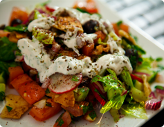 Fattoush Salad Calories and Nutrition Values