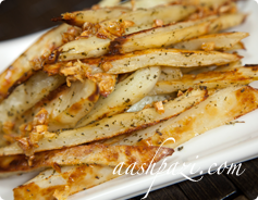 Garlic Fries Calories & Nutrition Values