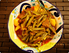 Green Beans Stew Calories and Nutrition Values