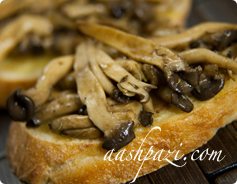 Mushroom Bruschetta Calories & Nutrition Values