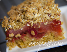 Rhubarb Strawberry Bar