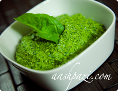 Spinach Pesto Sauce calories and Nutrition Values