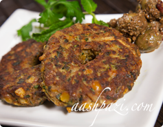 Split Yellow Peas Patties