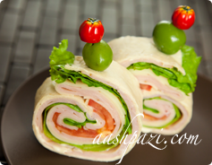 Turkey Ham Wrap Calories & Nutrition Values