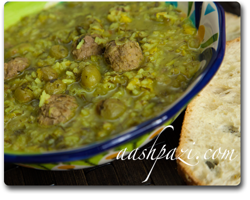 Ash Ghooreh (Sour Grape Soup)