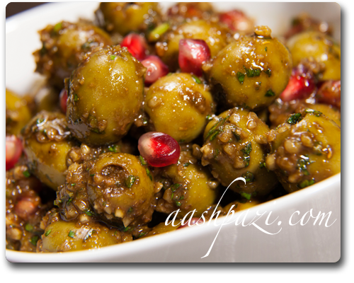 Marinated Olives (Zeytoon Parvardeh)