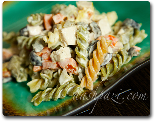 pasta salad, macaroni and chicken salad recipe
