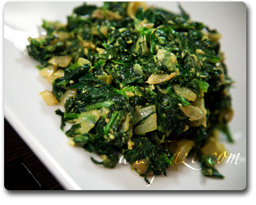 Spinach omelette, nargesi recipe