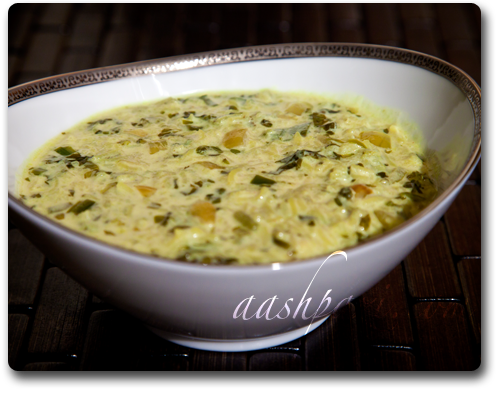 Yogurt Soup, Ash e Mast, recipe, ashmast, Persian soup recipe