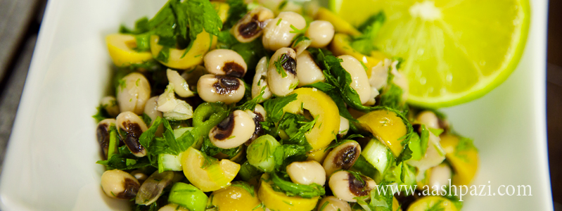 Black eyed peas and olive salad calories, nutritional values