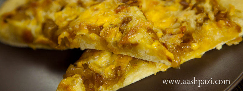 Caremelized Onion Pizza calories, nutritional values,