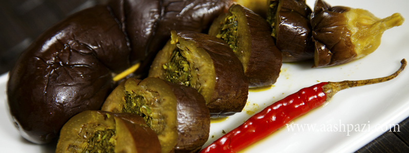 stuffed, eggplant, pickles, tursu, calories, nutritional values,