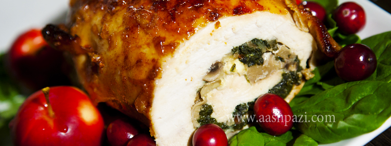 Turkey breast roulette calories, nutritional values,