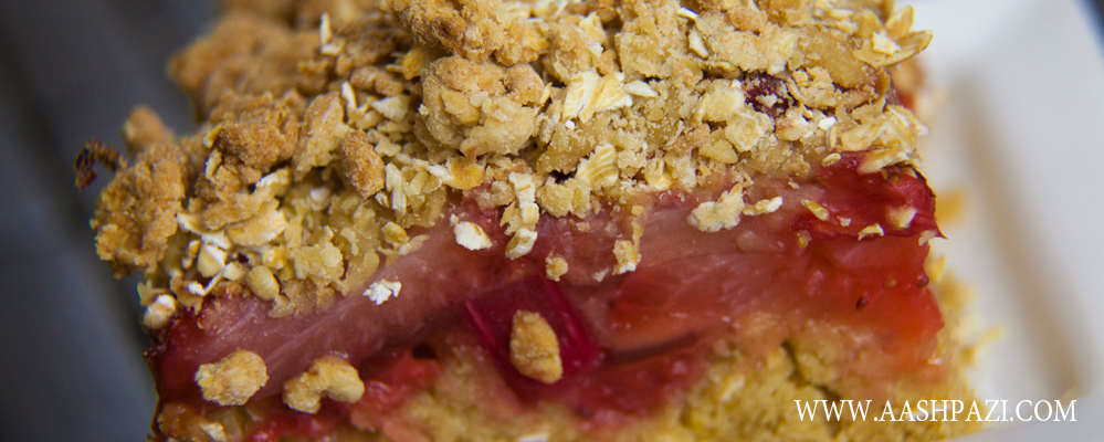 RHUBARB And STRAWBERRY BAR